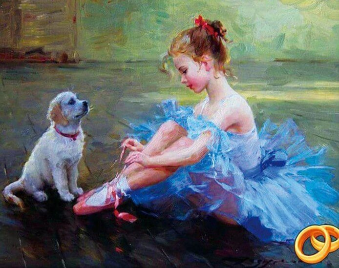 Ballet Dancer Diamond Painting Kit