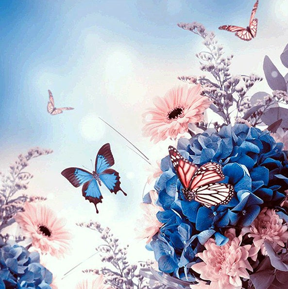 Butterflies Flying to Sky Diamond Painting