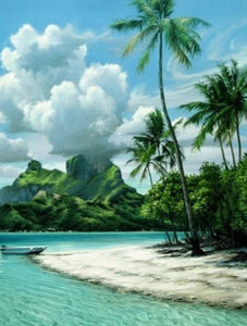 Caribbean Island Paint by Diamonds