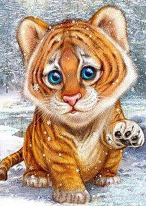 Baby Tiger Paint by Diamonds