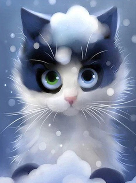Cartoon Kitty Paint by Diamonds