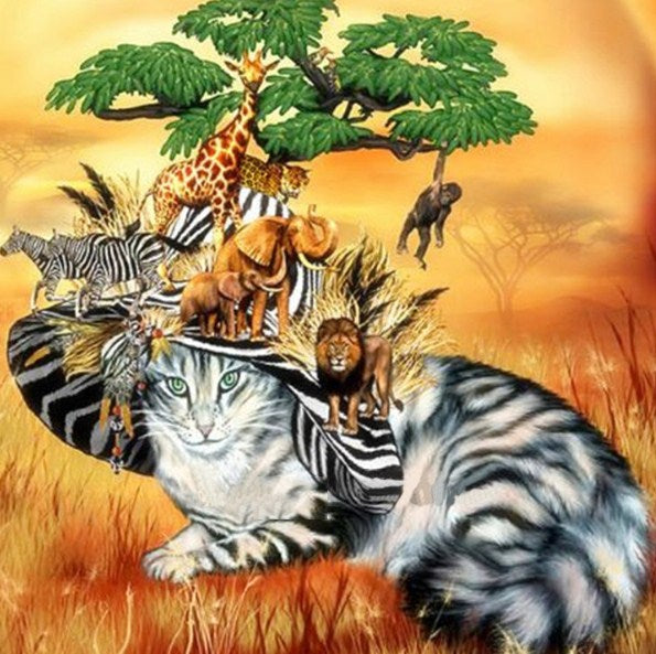 Safari Cat Diamond Painting