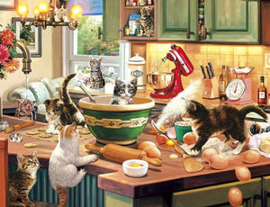Cats in Kitchen Diamond Painting