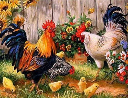 Chickens Painting Kit
