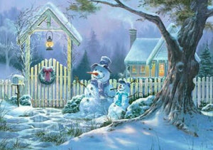 Christmas Eve & Snow Men Paint by Diamonds