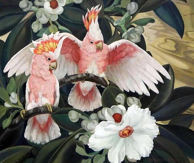 Cocktail Parrots & Flowers Diamond Painting