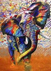African Elephant Paint by Diamonds