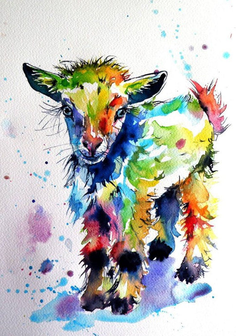 Colorful Goat Paint by Diamonds