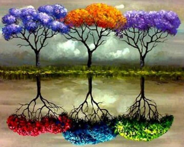 Colorful Trees DIY Painting Kit