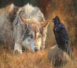 Crow & Wolf Diamond Painting