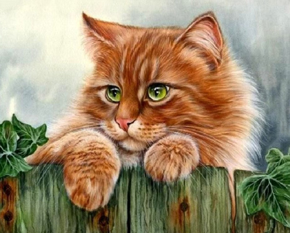 Cute Ginger Cat Diamond Painting Kit