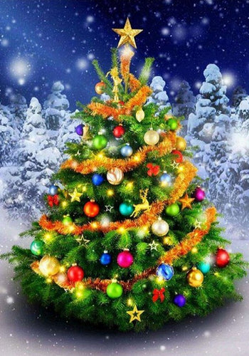 Decorated Christmas Tree Diamond Painting