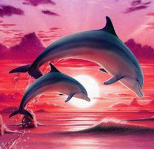 Dolphins DIY Diamond Painting Kit