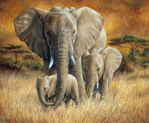 Elephants DIY Diamond Painting Kit