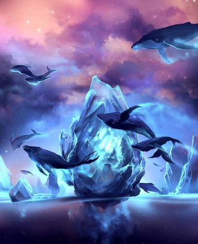 Fantasy Flying Fish Paint by Diamonds