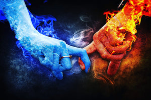 Fire & Ice Love Paint by Diamonds