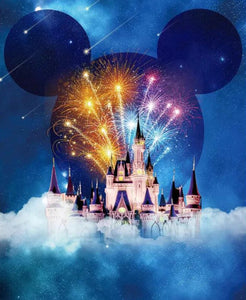 Fireworks at Disney Castle Diamond Painting