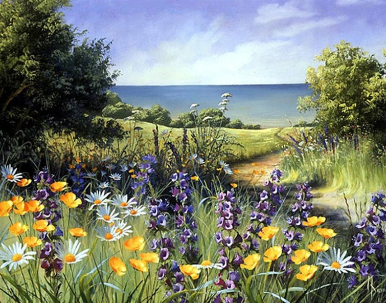 Flower Meadows Paint by Diamonds