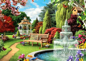 Fountain in Garden Painting Kit