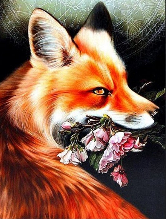 Fox & Blossoms Diamond Painting Kit