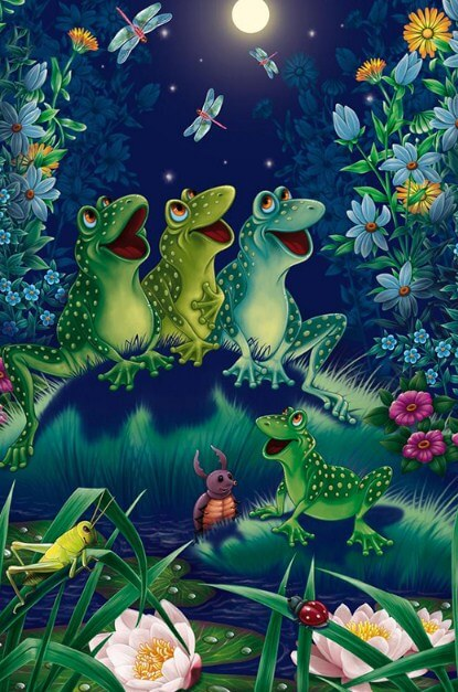 Frogs Paint by Diamonds