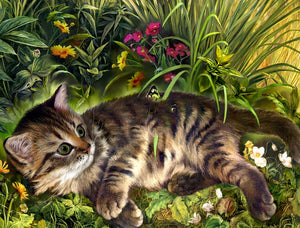 Garden Cat Diamond Painting