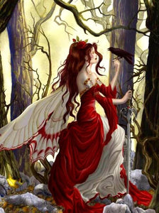 Fairy  in the Forest Paint by Diamonds