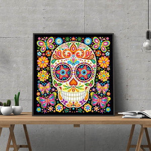 Happy Skull Night Glowing Diamond Artwork