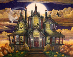Halloween Haunted House Paint by Diamonds