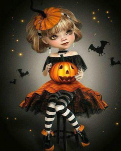 Halloween Princess Paint by Diamonds