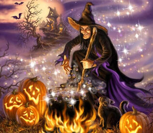 Halloween Witch Diamond Painting Kit
