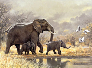 Happy Elephant Family Diamond Painting