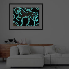 Load image into Gallery viewer, 5D Night Glow Luminous Horse Diamond Painting