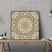 Load image into Gallery viewer, Colorful Mandala Shine in Dark Diamond Painting