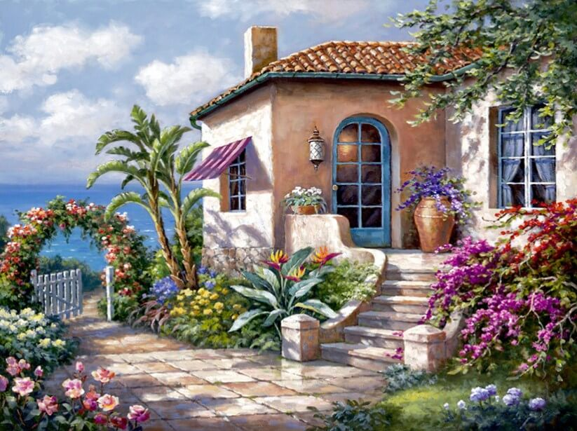 House with Garden by the Sea