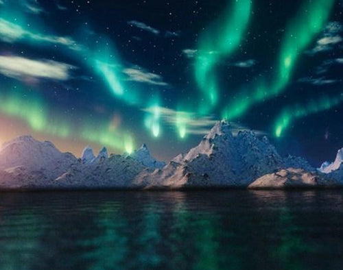 Ice Bergs & Northern Lights Diamond Painting