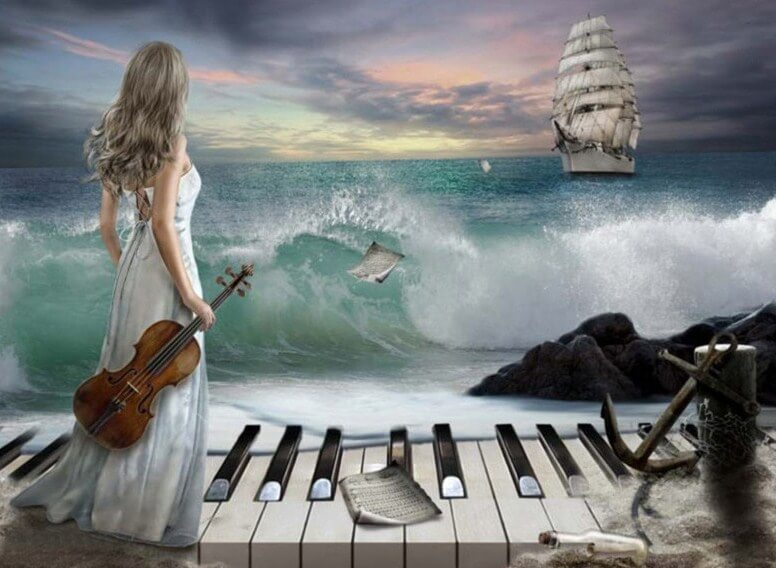 Piano at the Beach Painting Kit