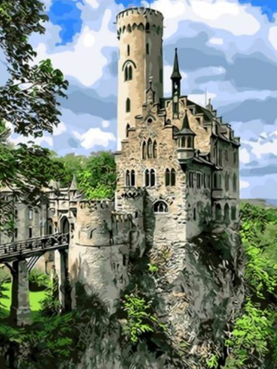 Lichtenstein Castle DIY Painting