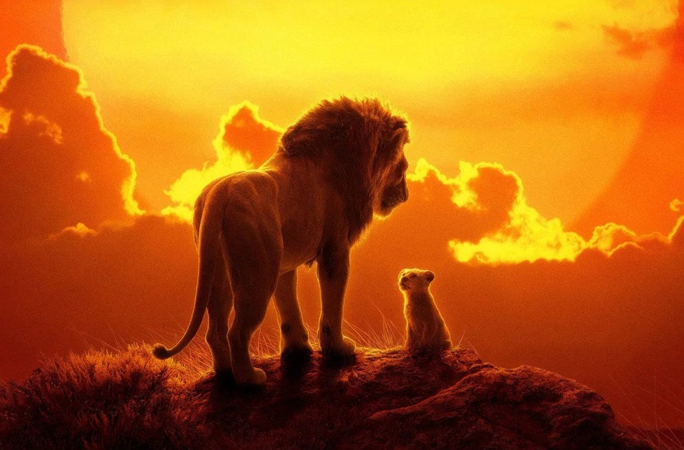 Lion & Cub on the Mountain Diamond Painting