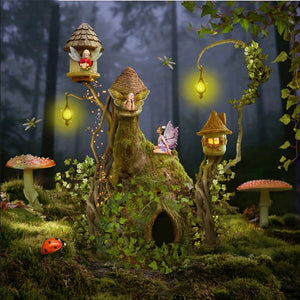 Little Fairies in their Magical Houses Diamond Painting