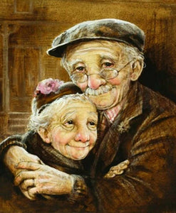 Loving Old Couple Paint by Diamonds