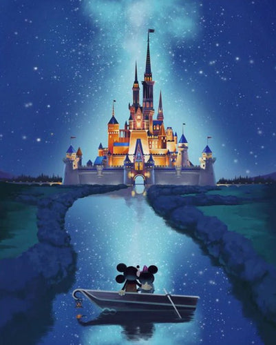 Disney Castle Paint by Diamonds