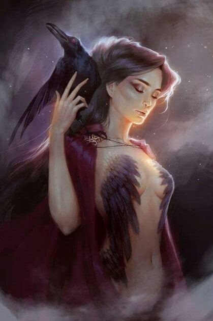 Raven Goddess Diamond Painting