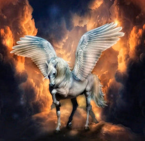 Pegasus Fire Paint by Diamonds