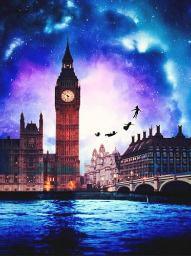 Peter Pan Flying by the Big Ben Diamond Painting