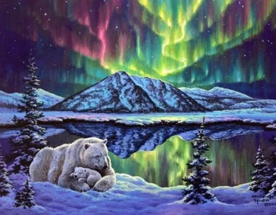 Polar Bears & Northern Lights DIY Painting Kit