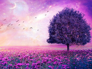 Purple Nature Diamond Painting Kit