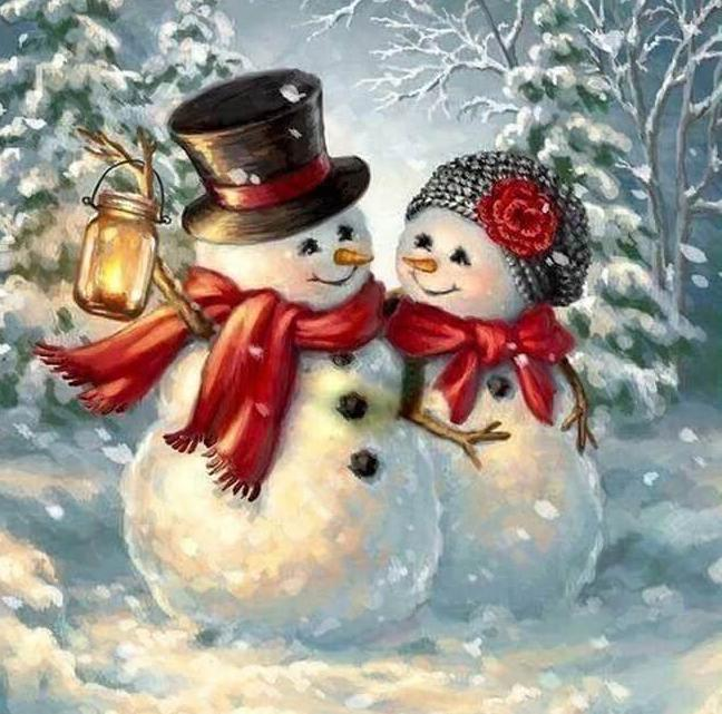 Snowman Diamond Painting Kit