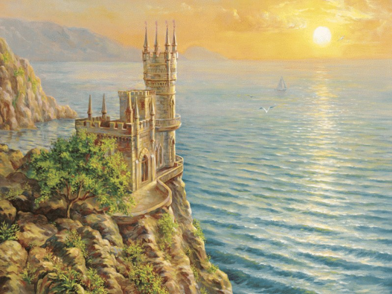 Swallow's Nest Castle Paint by Diamonds