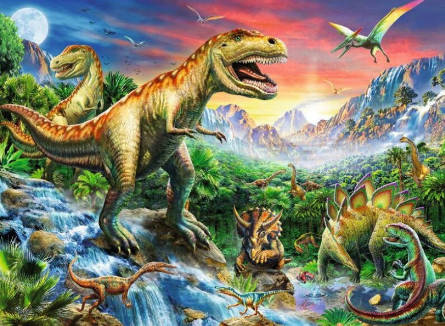 The Time of the Dinosaurs Paint by Diamonds